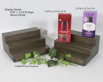 Products Display Stand, Bottle Display, Wood Display Stand, Display Stand 3 Tier, Perfume Stand, Countertop Display, Trade Craft Display