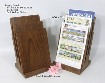 Brochure Holder, Wood Countertop Stand, Show Display, Trade Show Booth, Display Stand 3 Tier, Exhibition Display, Convention display