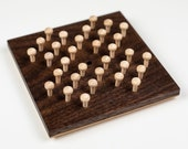 Wooden Hi-Q solitaire game