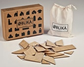 Architectural wooden puzzle