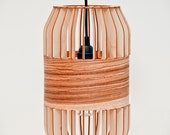 Wooden lath lamp small