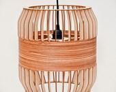 Wooden lath lamp big