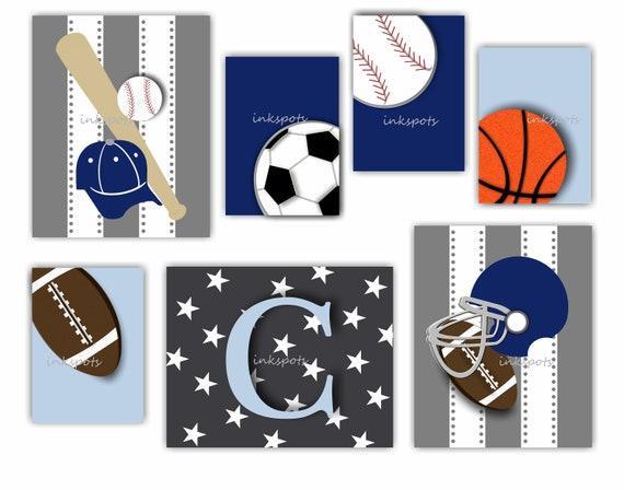 Sports Nursery Decor Sports Wall Art Sports Art Personalized   Etsy