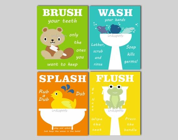 Beau Kids Bathroom Art Kids Bathroom Signs Rubber Duck Bathroom | Etsy