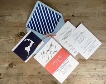 Cape Cod Wedding Invitation Nautical