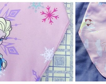 Bandana Dribble Bib ~ Special Needs ~ Handmade ~ 4 – 10 years Frozen and Fairies