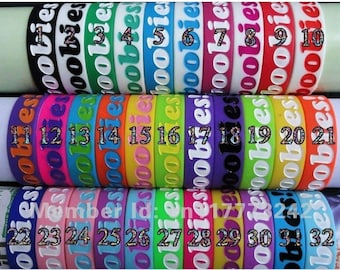 Get all 32 colors! I Love Boobies Jelly Bracelet Lot (Keep a Breast) You get 1 of each colors!