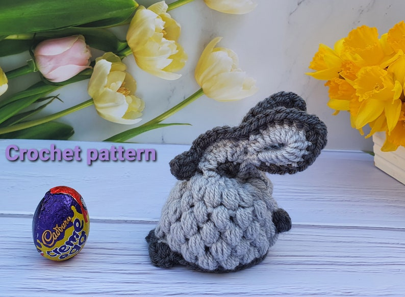Easter Bunny Chocolate Egg Cover Crochet Pattern  Crochet image 1