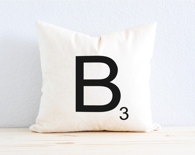 Personalized Scrabble Game Tile Pillow