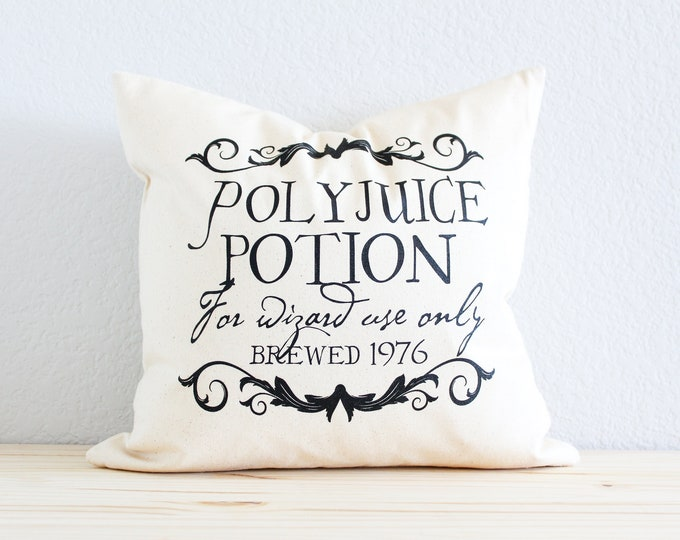 "Magic Pillow - ""PolyJuice Potion"" Magical Wizard Potion"