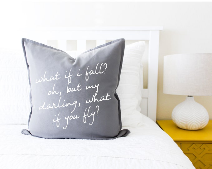 What If Fall? Pillow Cover - Gift for Her, Gift for Mom, Mother's Day, Home Decor, Pillowcase, Cushion Cover