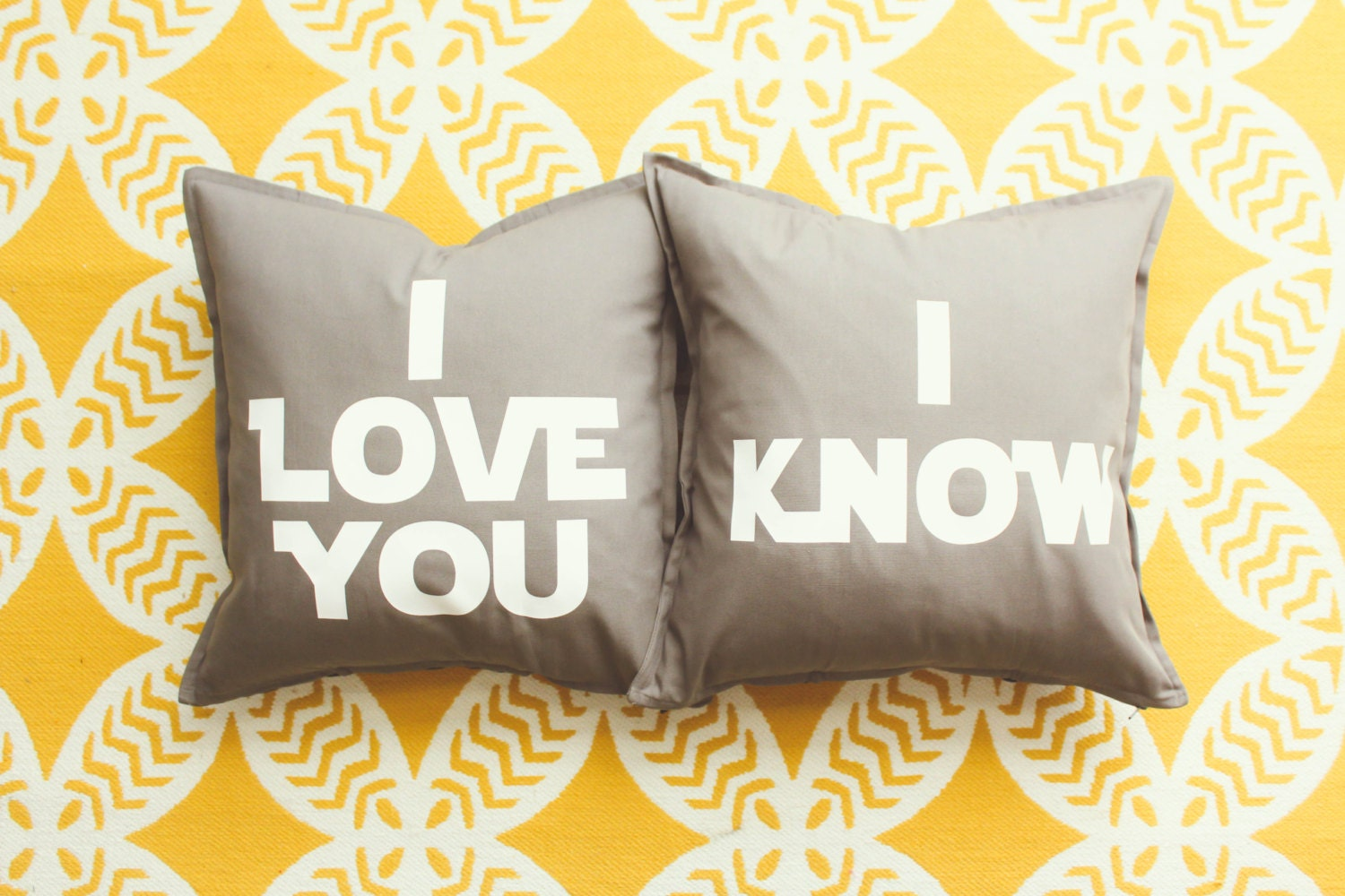 Star Wars I Love Youi Know Pillow Cover Set Wedding Gift