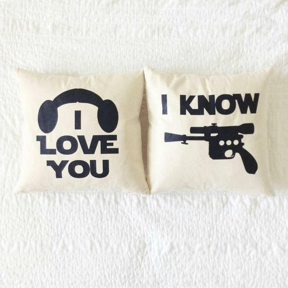 Star Wars Pillow Set I Love You And I Know Han Etsy