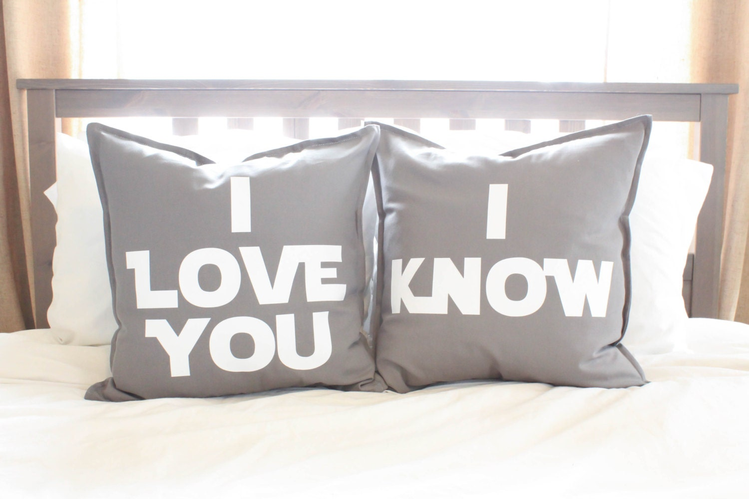 Star Wars I Love You/I Know Pillow Cover Set - Wedding Gift ...