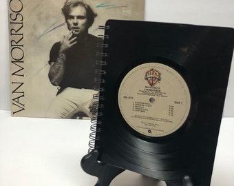 Van Morrison recycled vinyl record notebook.