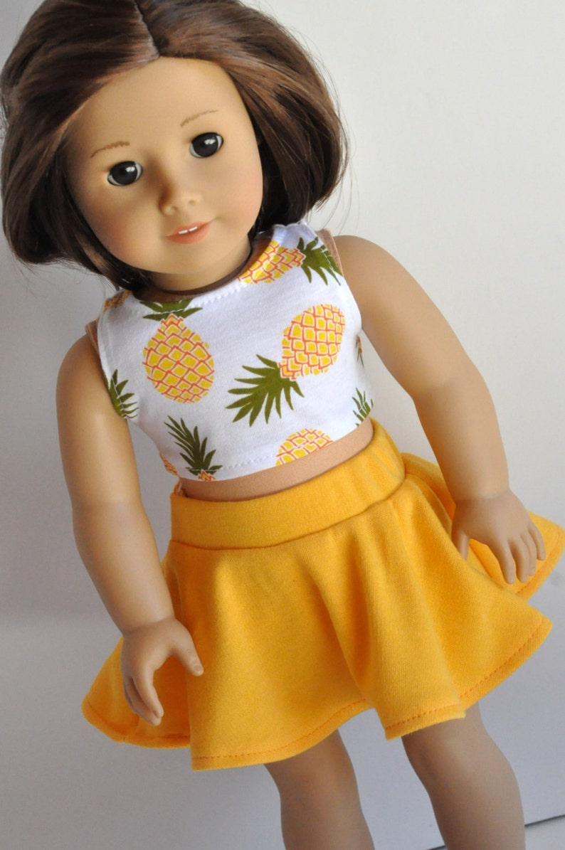 18 Inch Doll Clothes Pineapple Print Crop Top image 0