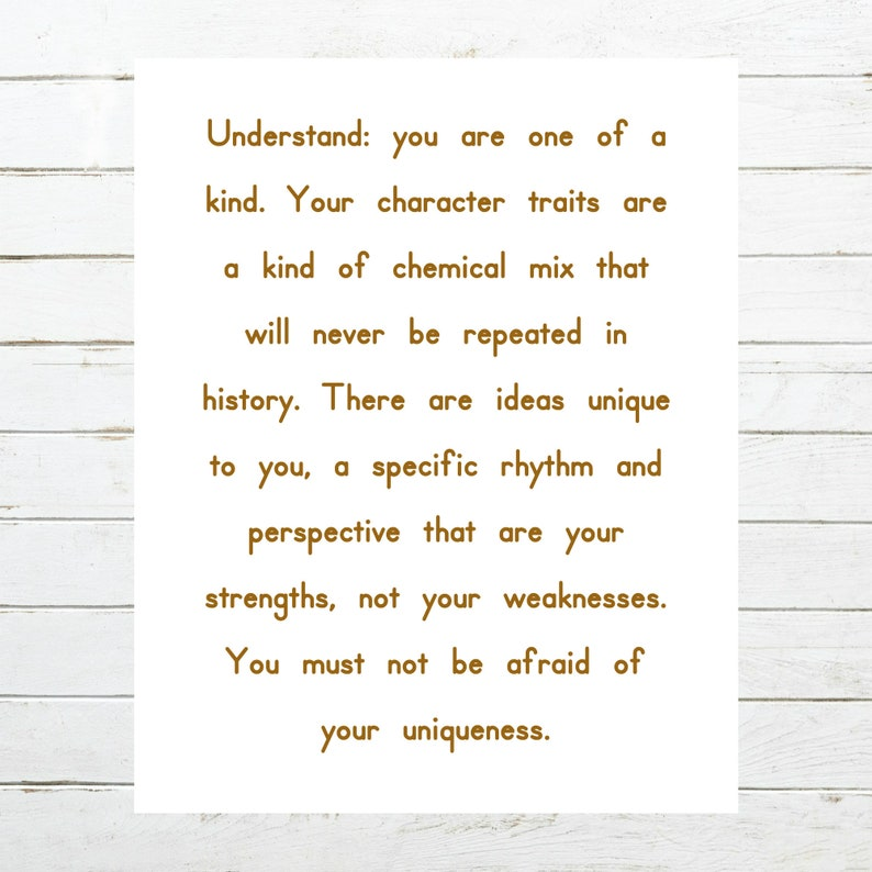 graphic regarding Character Traits Printable identified as Have an understanding of: oneself are one particular of a sort. Your individuality characteristics are a form of chemical mixture that will under no circumstances be frequent in just historical past. - Printable