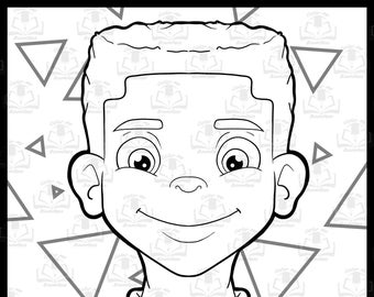 Person Coloring Page Etsy