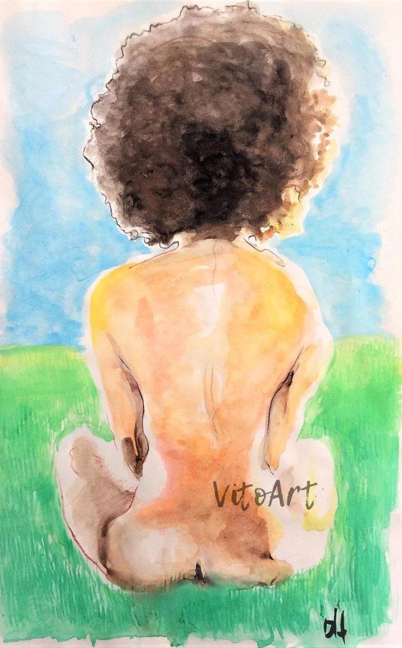 Nude paintings of black african american women
