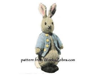 Peter rabbit pattern etsy vintage rabbit toy knitting pattern bunny peter rabbit pdf735 from toypatternland and wonkyzebra maxwellsz
