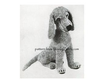 Toy Desmond Dog Vintage knitted dog Knitting Pattern PDF 994 emailed from WonkyZebra