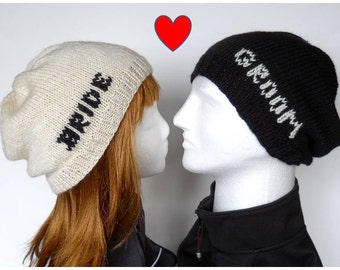 039a8c3afd848 Bride and Groom Beanie Set