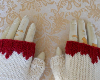 Zombie Gloves, Fingerless Gloves for the Zombie Apocalypse, Photo Prop Gloves, Zombie Costume Gloves, Halloween Costume, Fingerless Mittens