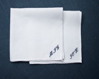 Light Blue Pocket Square Linen /& Cotton Pocket Square Mens Bow Tie Husband Gift Groomsmen Handkerchief Mens Hanky Hankie Groom Gift for Him