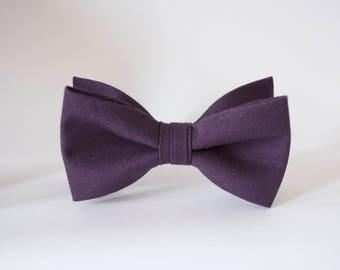 2df425f8e4 Eggplant bow tie