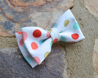 bow tie for boys, baby bow ties, clip on bow ties for boys, wedding bow tie,ring bearer bow tie,coral and mint bow tie