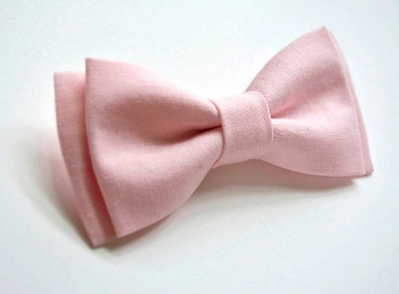 Light Pink Kid/'s Straight Cut Solid Pre-tied Strap Bowtie Boy/'s Bowtie Prom