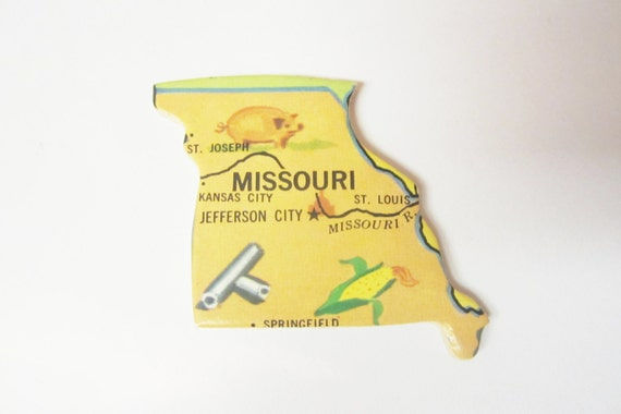State of Kansas Magnet Magnet of Kansas by JustStated on etsy