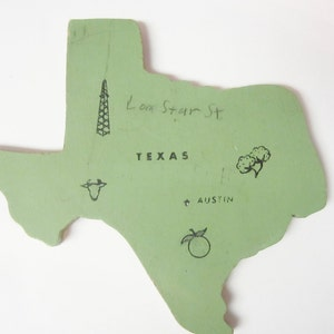 Magnet of Texas by JustStated on etsy State of  Texas Magnet