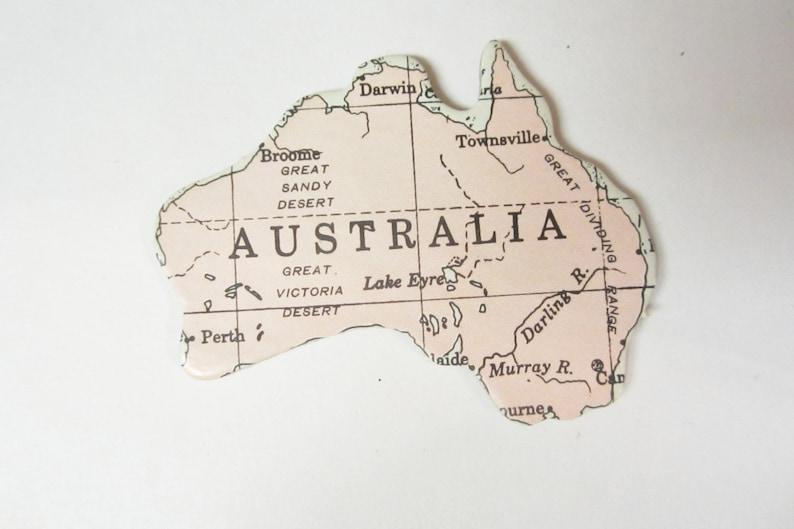 Magnet of Australia by JustStated on etsy Australia Magnet