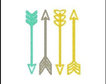 arrow embroidery  arrow embroidery design arrow embroidery addon filled arrow embroidery set design