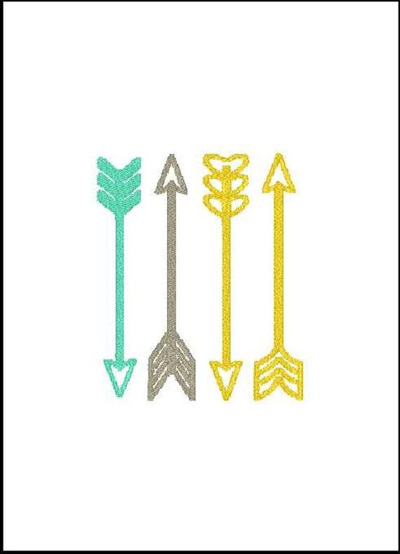 flecha del bordado flecha bordado diseño flecha bordado addon | Etsy