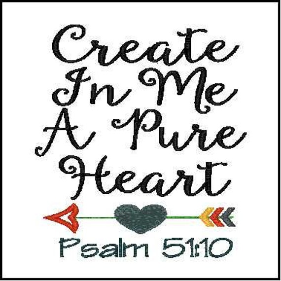 bible verse embroidery phrase embroidery design create in me a etsy