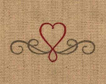 Heart embroidery design scroll heart embroidery design filigree heart embroidery design