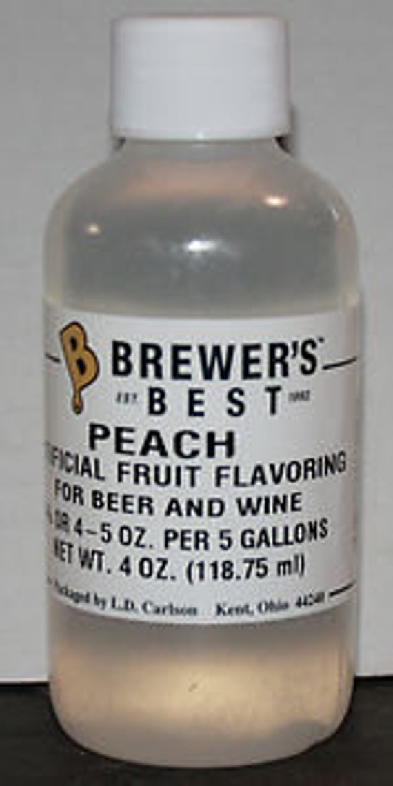 Peach Fruit Flavoring For  Home Wine Making Beer Making 4 Ounces