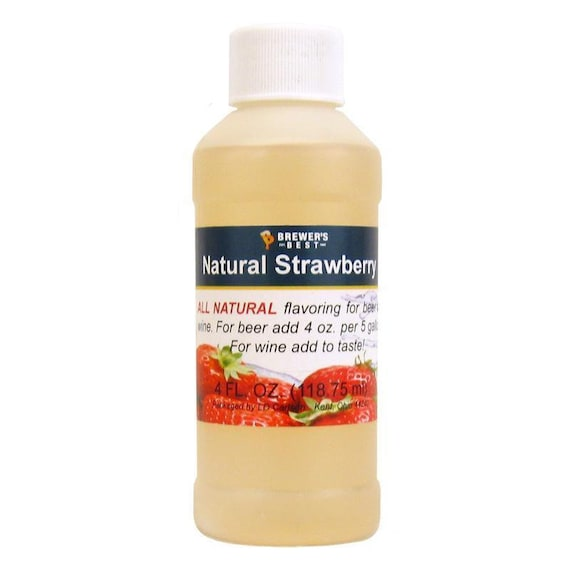 Brewers Best Strawberry Natural Flavoring For Home Wine Making Beer Making 4 Ounces