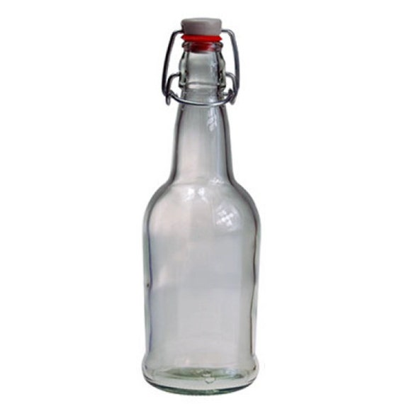 Clear 16 Oz Flip Top Bottle Sold Individually