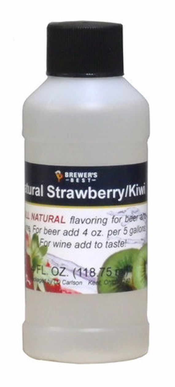 Brewers Best Strawberry Kiwi Natural Flavoring For Home Wine Making Beer Making 4 Ounces