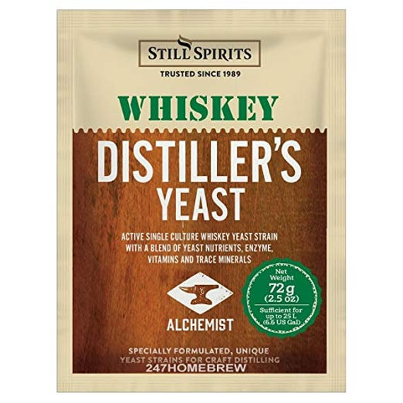 Whiskey Distilling Yeast For Making Home Crafted Spirits