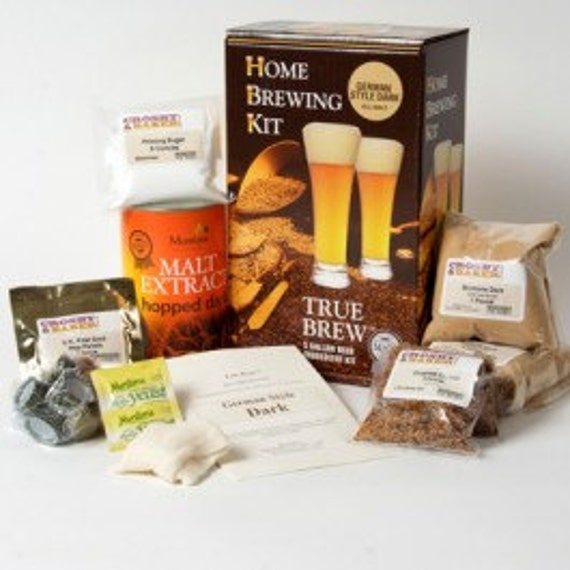 Home Brewed Craft Beer Making Kit By True Brew- German Style Dark - Makes 5 Gallons