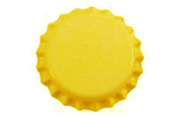 Yellow Oxygen Barrier Beer Bottle Caps 144 Count