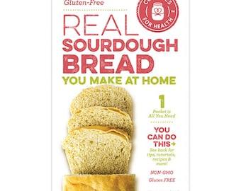 Gluten Free Real Sourdough Bread Starter Culture Kit Non-GMO Make Fresh Bread at Home!