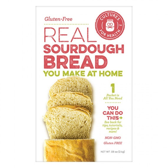 Gluten Free Real Sourdough Bread Starter Culture Kit Non-GMO Make Fresh Bread at Home!