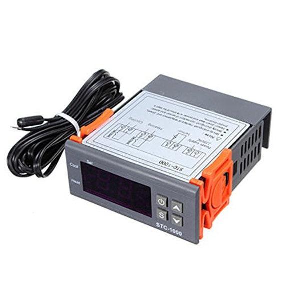 12V Digital STC-1000 Temperature Controller Thermostat Regulator+Sensor Probe For Homebrewing