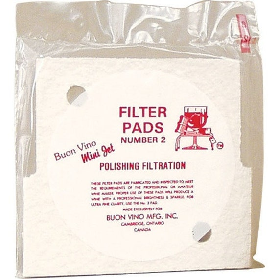 Mini Jet Filter Pads - 2.0 micron (#2) Polishing - Pack of 3 For Homebrew Beer and Wine