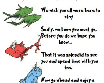 Dr. Suess Thank You Bag Tags
